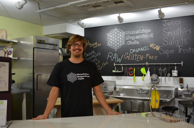 Justin Simi opened Sunshine Superfood Cafe inside Modify, a downtown Scottsdale, Ariz., space at 4164 Marshall Way that also offers yoga, art and spa services. (Ginger Meurer/Las Vegas Review-Journal)