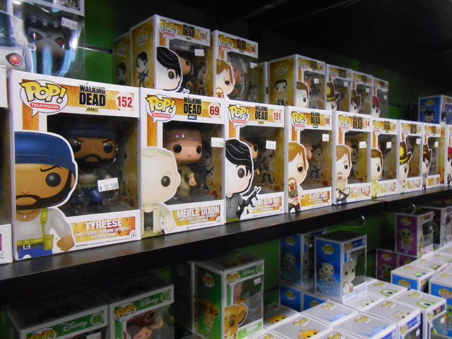 Pop! figures are seen Dec. 3, 2014, lining a wall in The Toy Box at Downtown Summerlin. The figures are the store's best-selling items. (Jan Hogan/View)