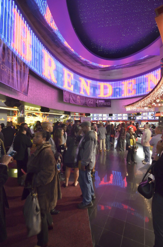 """The lobby of the Brenden Theater at the Palms hotel-casino at 4321 W. Flamingo Road in Las Vegas is shown before the screening of """"Two Roads"""" on Wednesday, Dec. 17, 2014. Studio 11 Films ..."""