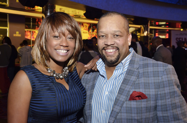 """Sharon Tomlinson, CEO and executive producer for Studio 11 Films, left, and director Avery O. Williams are shown before a screening of """"Two Roads"""" at the Brenden Theater at the Palms hot ..."""