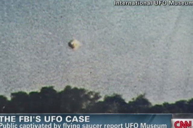 Nearly 130,000 pages of declassified Air Force files on UFO investigations and sightings are now available online. (Screengrab/CNN)