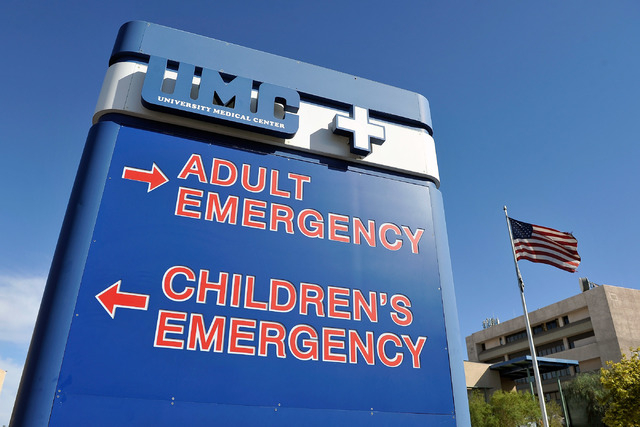The University Medical Center is seen on Friday, Oct. 17, 2014. (David Becker/Las Vegas Review-Journal)