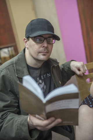 "Director Shane Cullum rehearses ""Wally's Cafe"" at the Theatre in the Valley in Henderson on Saturday Jan 17, 2014. The play opens at the Theatre in the Valley on Jan. 23, 2014. (Jacob Kepler/Las V ..."