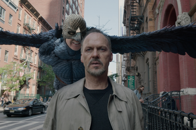 """Michael Keaton is haunted by his superhero alter ego in """"Birdman."""" The movie received nine Oscar nominations on Thursday, Jan. 15, 2015, including best picture and best actor for Keaton. (Courtesy ..."""