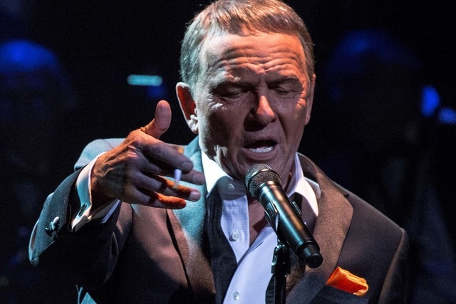 Impressionist Bob Anderson wears elaborate latex makeup for his long-form Frank Sinatra tribute. (Courtesy)