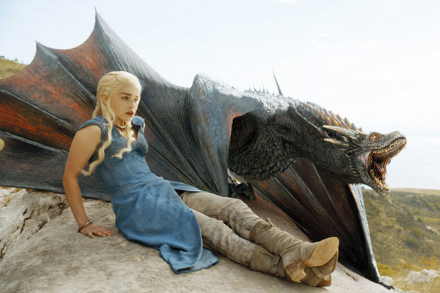 "Emilia Clarke is one of the stars of HBO's ""Game of Thrones."" An exclusive season 5 trailer, as well as the final two episodes of the fourth season, will be shown in 150 IMAX theaters across the U ..."