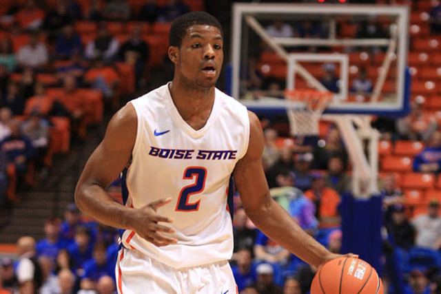 Jan 13, 2015; Boise, ID, USA; Boise State Broncos guard Derrick Marks (2) during first half action at Taco Bell Arena against the UNLV Rebels. Mandatory Credit: Brian Losness-USA TODAY Sports