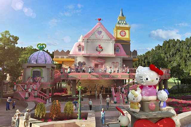 China's Hello Kitty Park opened on New Years Day with 11 themed facilities, including performance venues, amusement rides, a luxury resort and a grand Mahjong hall.
