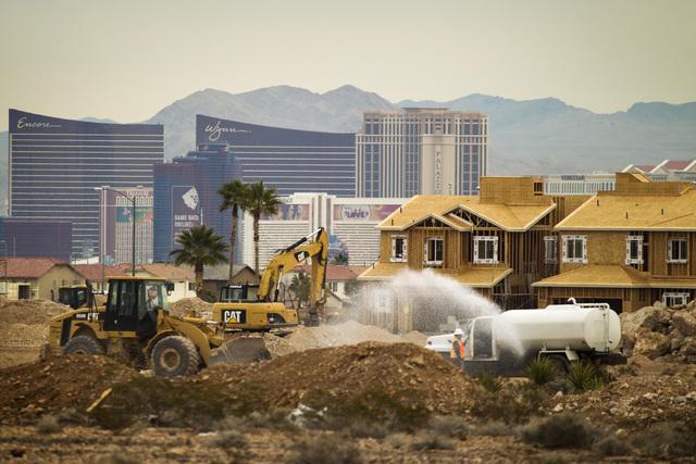 Construction at Encanterra development by Ryland Homes, on Sunset Road near Durango Drive is seen  Thursday, Jan. 29, 2015. (Jeff Scheid/Las Vegas Review-Journal)