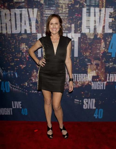 Actress Molly Shannon arrives for the 40th Anniversary Saturday Night Live (SNL) broadcast in the Manhattan Borough of New York February 15, 2015. (REUTERS/Carlo Allegri)