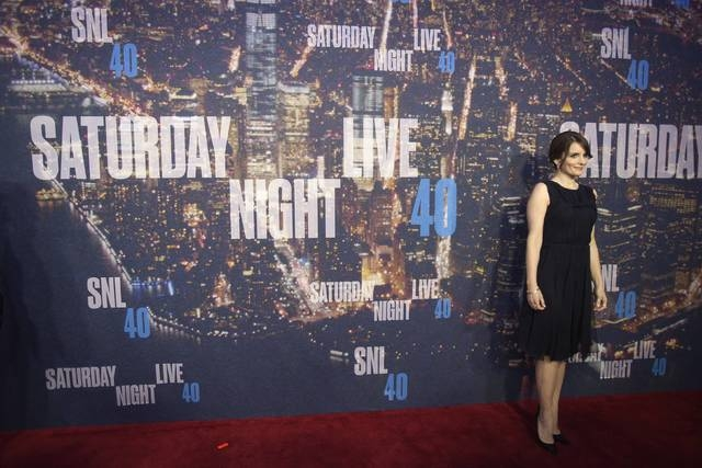 Actress Tina Fey arrives for the 40th Anniversary Saturday Night Live (SNL) broadcast in the Manhattan Borough of New York February 15, 2015. (REUTERS/Carlo Allegri)