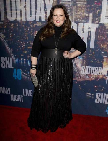 Actress Melissa McCarthy arrives for the 40th Anniversary Saturday Night Live (SNL) broadcast in the Manhattan Borough of New York, February 15, 2015. (REUTERS/Carlo Allegri)