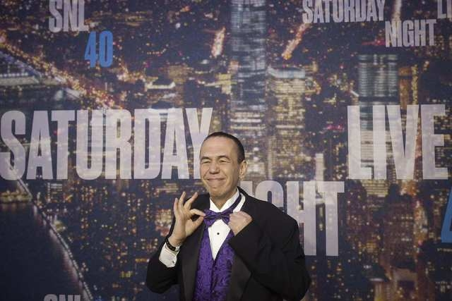 Actor Gilbert Gottfried arrives for the 40th Anniversary Saturday Night Live (SNL) broadcast in the Manhattan borough of New York, February 15, 2015. (REUTERS/Carlo Allegri)