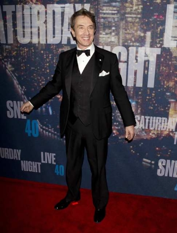 Actor Martin Short arrives for the 40th Anniversary Saturday Night Live (SNL) broadcast in the Manhattan borough of New York, February 15, 2015. (REUTERS/Carlo Allegri)