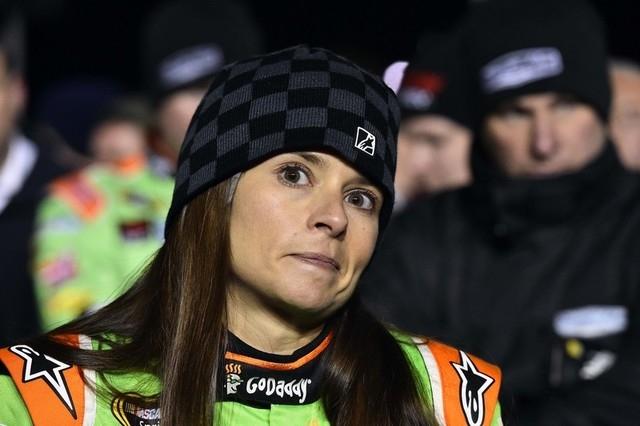Feb 19, 2015; Daytona Beach, FL, USA; NASCAR Sprint Cup Series driver Danica Patrick (10) before race two of the Budweiser Duels at Daytona International Speedway. (Jasen Vinlove-USA TODAY Sports)
