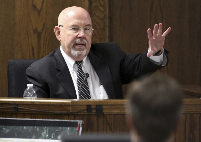 Clinical-forensic psychologist and neuropsychologist J. Randall Price testifies during the capital murder trial of Eddie Ray Routh in Stephenville, Texas, Friday, Feb. 20, 2015. Price testified th ...