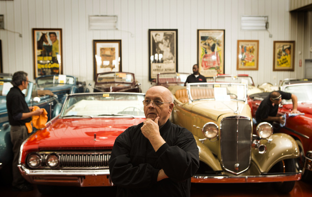 Mike Pratt, director of transportation at the Rogers' Classic Car Museum, 1480 Gragson Avenue, contemplates on Tuesday, Feb. 3, 2015. (Jeff Scheid/Las Vegas Review-Journal)