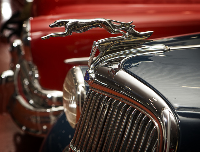 A hood ornament of a 1935 Ford DeLuxe Phaeton  is seen Tuesday, Feb. 3, 2015 at the Rogers' Classic Car Museum, 1480 Gragson Avenue.  (Jeff Scheid/Las Vegas Review-Journal)