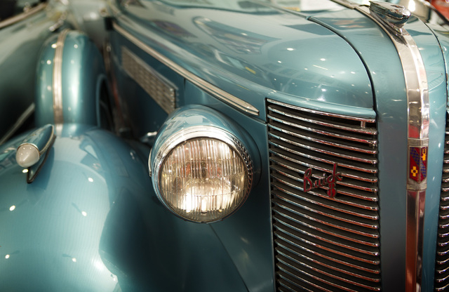 A 1937 Buick Century Convertible  is seen Tuesday, Feb. 3, 2015 at the Rogers' Classic Car Museum, 1480 Gragson Avenue. (Jeff Scheid/Las Vegas Review-Journal)