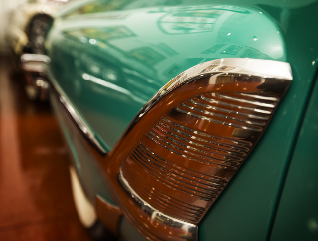 A 1955 Mercury Montclair Convertible  is seen Tuesday, Feb. 3, 2015 at the Rogers' Classic Car Museum, 1480 Gragson Avenue.   (Jeff Scheid/Las Vegas Review-Journal)