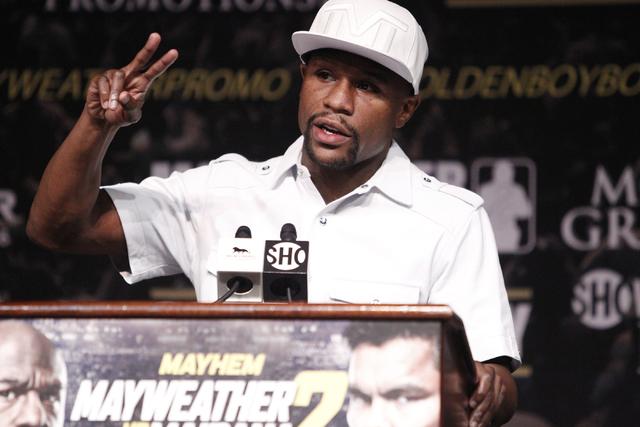 Floyd Mayweather Jr. (Erik Verduzco/Las Vegas Review-Journal File)