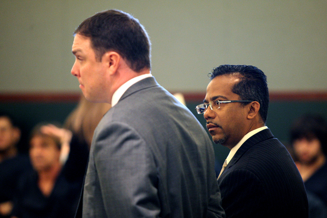 Former Democratic Assemblyman Steven Brooks was handed another term of probation on a felony gun charge Tuesday by District Judge David Barker at the Regional Justice Center in Las Vegas, Feb, 3.  ...