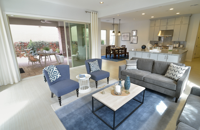 The interior of a model home built by Woodside Homes is shown on Friday, Feb. 21, 2015, in Cadence, a 2,200-acre master planned community being built north of the intersection of Boulder Highway a ...