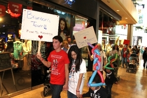 Eldorado High School senior Brandon Jacobs and his girlfriend Jazmin Deremer take part in the Walk with the Heart of a Child event in February 2013 at Fashion Show mall, 3200 Las Vegas Blvd. South ...