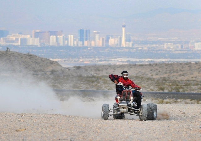 The Nellis Dunes, just north of Nellis Air Force Base, are popular with Southern Nevada off-roaders. (LAS VEGAS REVIEW-JOURNAL FILE PHOTO)
