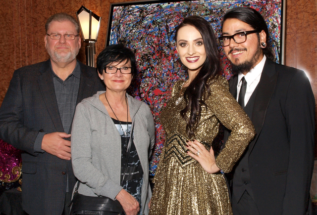 Frank and Pat Ellis, from left, Emily Ellis-Santana and Freddy Santana (Marian Umhoefer/Las Vegas Review-Journal)