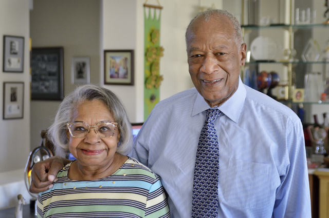 Dr. Robert Green, who served as Dr. Martin Luther King Jr.'s director of education, is shown with his wife, Lettie, at their home near Lake Mead and Sun City boulevards in Las Vegas on Friday, Feb ...