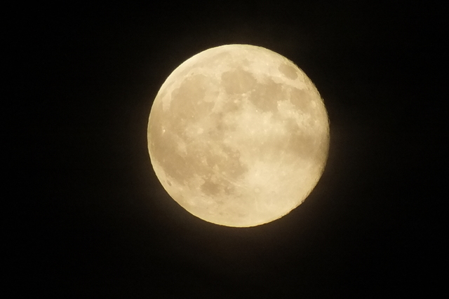 A photo of the full moon from Las Vegas. (Photo Courtesy of Raj Tumber)