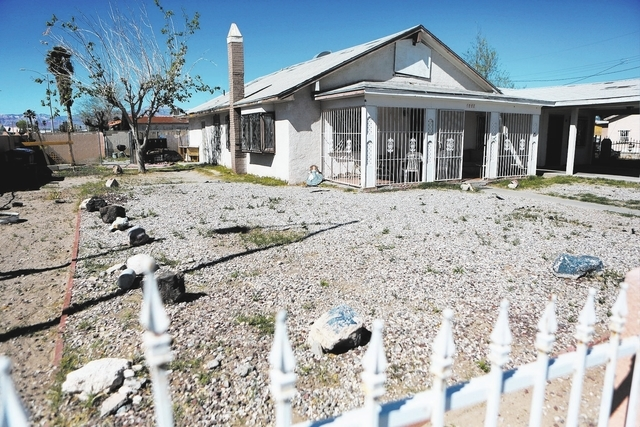 The Harrison House, which is located at 1001 F. Street, is shown Wednesday, March 12, 2014, in Las Vegas. The Harrison House is a historic landmark that served as a boarding house where black ente ...