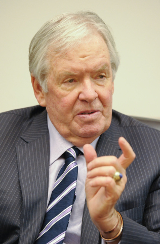 Bill Foley, who is working to bring a National Hockey League franchise to the new MGM Arena, speaks to the Review-Journal editorial board on  Friday, Jan. 16, 2015. (Mark Damon/Las Vegas Review-Jo ...