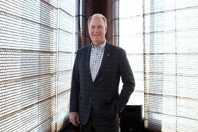 Southwest Airlines President and CEO Gary Kelly is seen at the Mandarin Oriental Thursday, Feb. 12, 2015. (Sam Morris/Las Vegas Review-Journal)