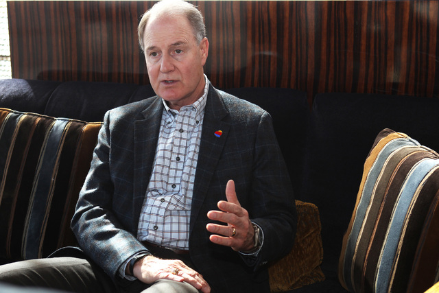 Southwest Airlines President and CEO Gary Kelly is seen during an interview at the Mandarin Oriental Thursday, Feb. 12, 2015. (Sam Morris/Las Vegas Review-Journal)