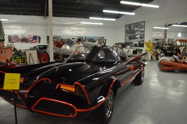 """One of 18 Batmobiles made for """"Batman Returns"""" can be found at the Hollywood Car Museum in Hot Rod City, 5115 Dean Martin Drive. (Ginger Meurer/View) (Click for more photos and scroll below st ..."""