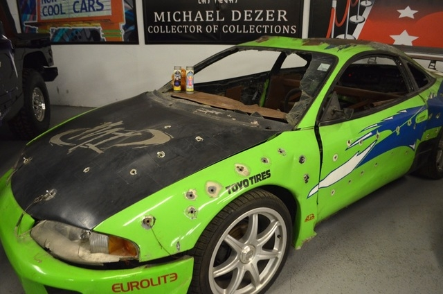 """""""The Fast and the Furious"""" stunt cars on display at the Hollywood Car Museum include a racer driven by Paul Walker. """"When he got killed, a lot of people came over here and brought candles, T ..."""