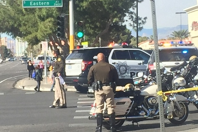 A pedestrian is in critical condition after being struck by a vehicle in the southeast valley Monday morning, according to police. (Courtesy, Michael Kroesche)