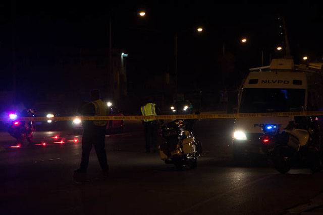 At 5:25 p.m. on Dec. 21, a red Toyota Tacoma travelling east on East Cheyenne Avenue near North Carroll Street hit Santiago Sanchez-Adame, 57, and a 4-year-old boy. (Ricardo Torres/Las Vegas Revie ...