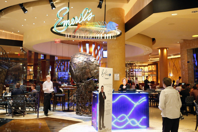Emeril's restaurant at MGM hotel-casino is seen Friday, Feb. 27, 2015. Three cases of measles linked to a worker at Emeril's.(Bizuayehu Tesfaye/Las Vegas Review-Journal)