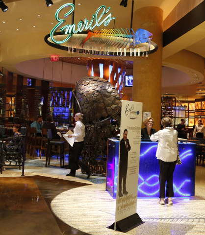 Emeril's restaurant at MGM hotel-casino is seen Friday, Feb. 27, 2015. Three cases of measles linked to a worker at Emeril's. (Bizuayehu Tesfaye/Las Vegas Review-Journal)