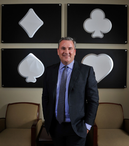 Mike Silberling, CEO of Affinity Gaming poses in his Las Vegas office on Tuesday, Jan. 20, 2015. Silberling took over as head of the gaming company last September. (David Becker/Las Vegas Review-J ...