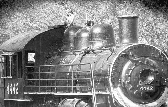 A locomotive, seen in 1984, was used as a climbing structure at Fantasy Park on Fantasy Lane. The park was demolished in the early 1990s. (View file photo)