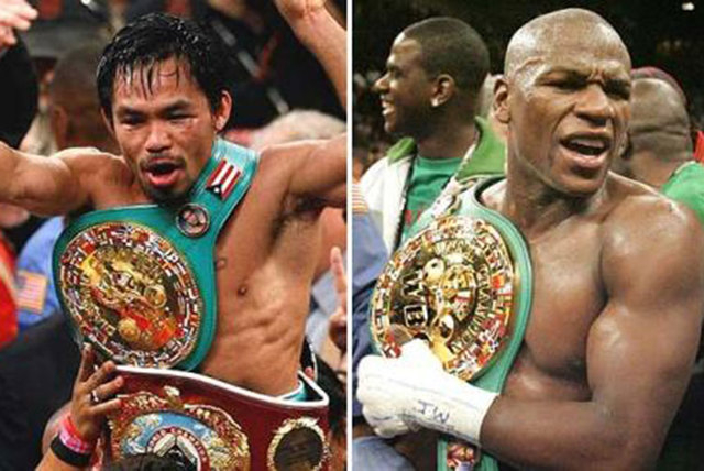 The boxing world should find out this week whether Manny Pacquiao, left, and Floyd Mayweather Jr. will fight May 2 at the MGM Grand Garden.