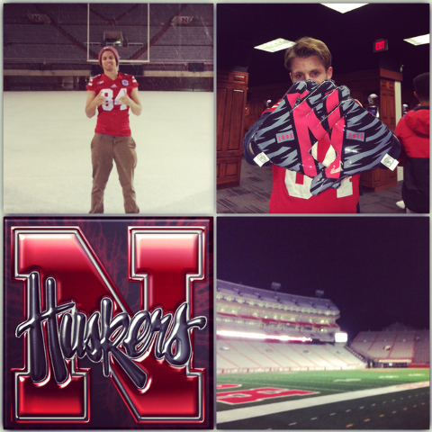 Bishop Gorman long snapper Jordan Ober is shown in his Twitter post Tuesday, Feb. 3, 2015, where he announced that he would be playing for Nebraska. (Photo courtesy Jordan Ober)