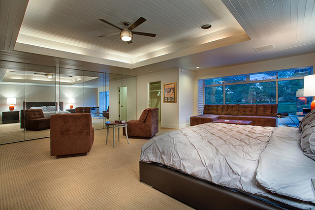 """Frank """"Lefty"""" Rosenthal's former home at 972 Vegas Valley Drive has a master bed room that is bigger than some studio apartments. It houses six closets.  (Courtesy photo)"""