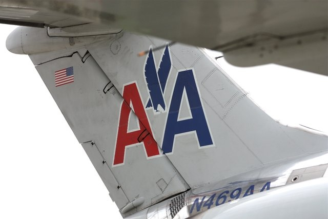 An American Airlines jet sits on the tarmac at the Chicago O'Hare International Airport. (CNN)