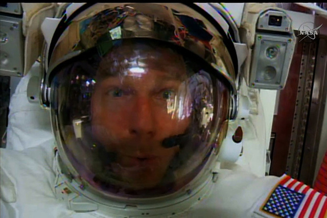 NASA astronaut Terry Virts found a small amount of water in his helmet after a spacewalk this week, but it did not put him in any danger or interfere with his duties. (CNN)