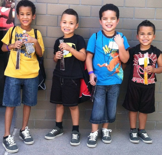 """More than 300 """"Littles"""" from Big Brothers Big Sisters of Southern Nevada received new footwear and apparel Feb. 16 as part of a partnership with Soles4Souls and FN PLATFORM at the kickoff of the M ..."""